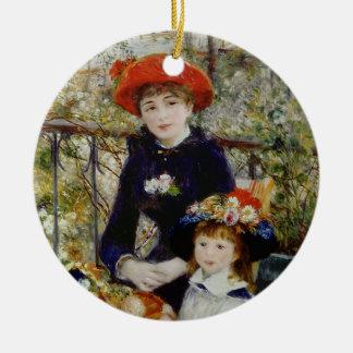 Ornamento De Cerâmica Pierre um Renoir | duas irmãs, ou no terraço