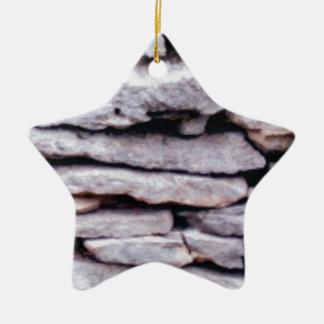Ornamento De Cerâmica pilha da rocha formada