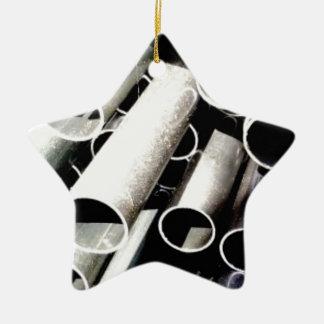 Ornamento De Cerâmica pilha de tubos do metal