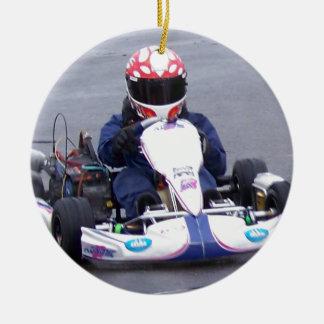 Ornamento De Cerâmica Piloto de Kart