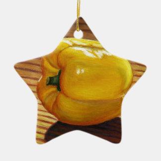 Ornamento De Cerâmica Pimenta amarela
