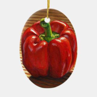 Ornamento De Cerâmica Pimenta de Bell vermelha