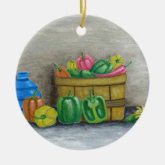 Ornamento De Cerâmica pimentas