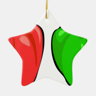 Ornamento De Cerâmica Pimentas de Bell coloridas