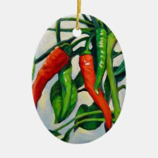 Ornamento De Cerâmica Pimentas de pimentão