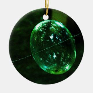 Ornamento De Cerâmica Pingo de chuva do vidro verde