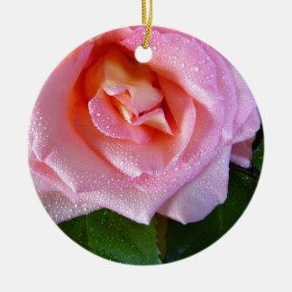 Ornamento De Cerâmica pingo de chuva-rosa