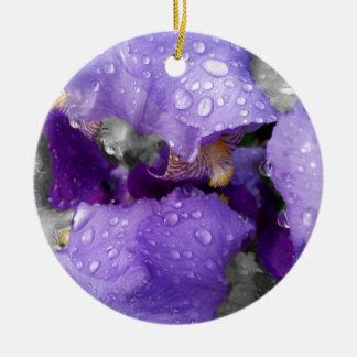 Ornamento De Cerâmica pingos de chuva na íris