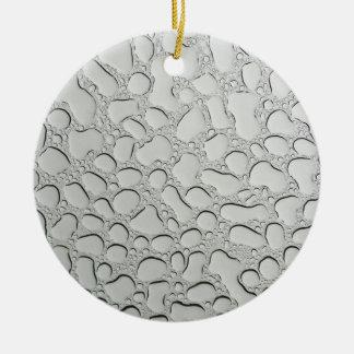 Ornamento De Cerâmica Pingos de chuva no telhado de vidro