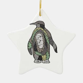 Ornamento De Cerâmica Pinguim
