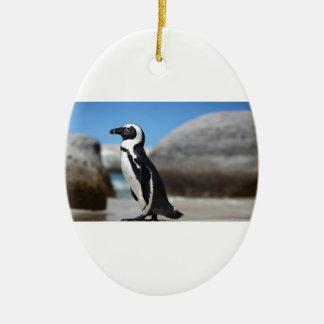 Ornamento De Cerâmica Pinguim africano
