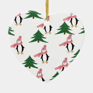 Ornamento De Cerâmica Pinguim do Natal