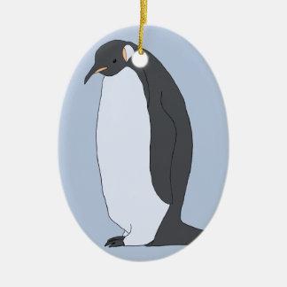 Ornamento De Cerâmica Pinguim grande