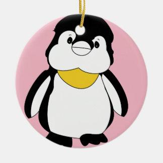 Ornamento De Cerâmica Pinguim pequeno bonito