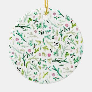 Ornamento De Cerâmica Pinho, azevinho & Sugarplums