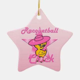 Ornamento De Cerâmica Pintinho #8 do Racquetball