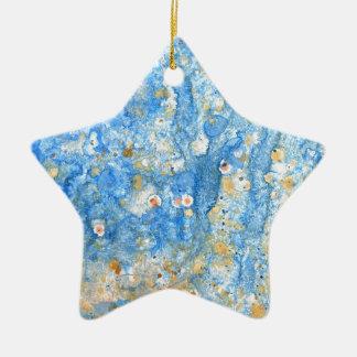 Ornamento De Cerâmica Pintura azul abstrata