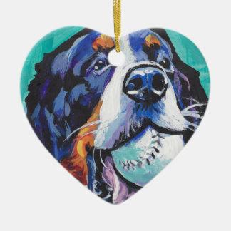 Ornamento De Cerâmica Pintura do pop art do cão de montanha de Bernese