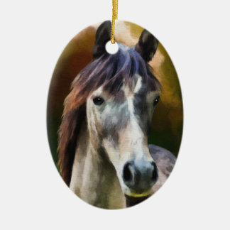 Ornamento De Cerâmica Pintura do retrato do cavalo de Digitas