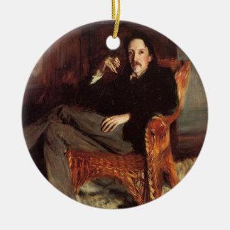 Ornamento De Cerâmica Pintura do vintage de Robert Louis Stevenson