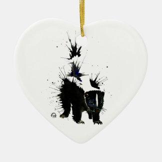 Ornamento De Cerâmica Pintura do watercolour da jaritataca