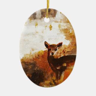 Ornamento De Cerâmica Pintura dos cervos