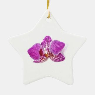 Ornamento De Cerâmica Pintura floral do aquarel do phalaenopsis do Lilac