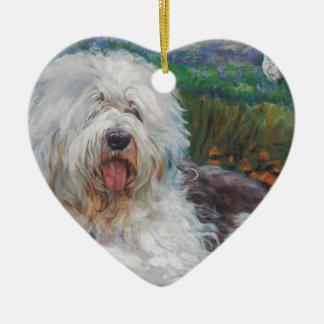 Ornamento De Cerâmica Pintura inglesa velha bonita da arte do cão do