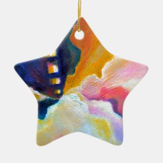 Ornamento De Cerâmica Pintura inspirada colorida abstrata da emergência