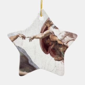 Ornamento De Cerâmica Pintura original de Michelangelo na capela Roma do
