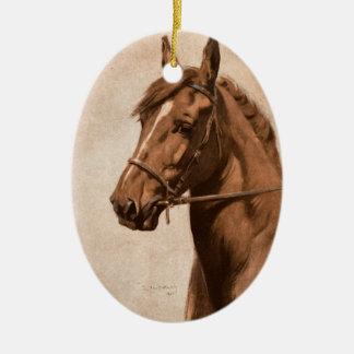 Ornamento De Cerâmica Pintura preta do cavalo do gengibre da beleza para