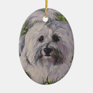 Ornamento De Cerâmica Pintura realística bonita da arte do cão de