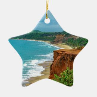 Ornamento De Cerâmica Pipa aéreo Brasil da cena do Seascape