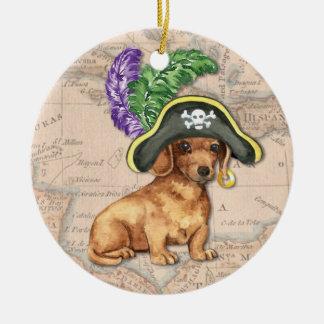 Ornamento De Cerâmica Pirata do Dachshund