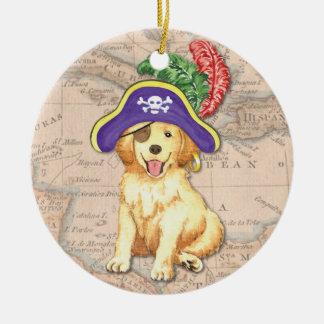 Ornamento De Cerâmica Pirata dourado