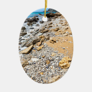 Ornamento De Cerâmica Piscina rochosa de Kefalonia da costa da paisagem