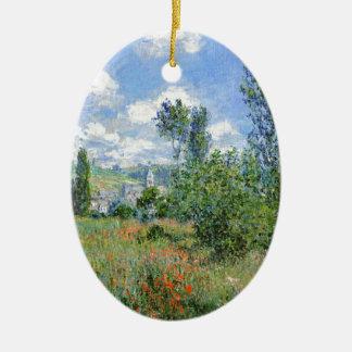 Ornamento De Cerâmica Pista nos campos da papoila - Claude Monet