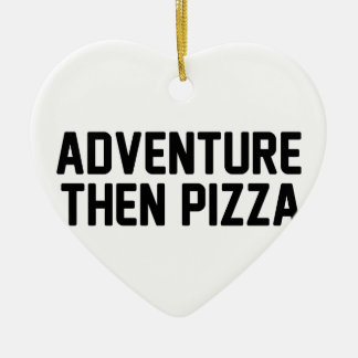 Ornamento De Cerâmica Pizza da aventura então