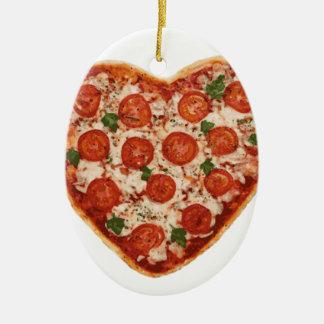 Ornamento De Cerâmica pizza dada forma coração
