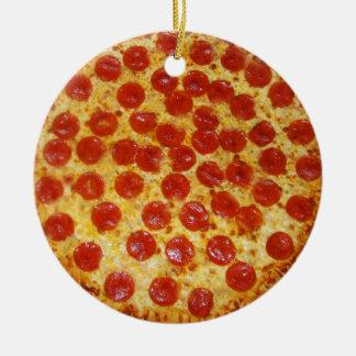Ornamento De Cerâmica Pizza de Pepperoni