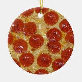 Ornamento De Cerâmica pizza de pepperoni grande