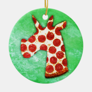 Ornamento De Cerâmica Pizza do unicórnio