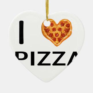 Ornamento De Cerâmica Pizza e amor