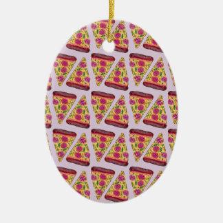 Ornamento De Cerâmica pizza floral