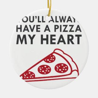 Ornamento De Cerâmica Pizza meu coração