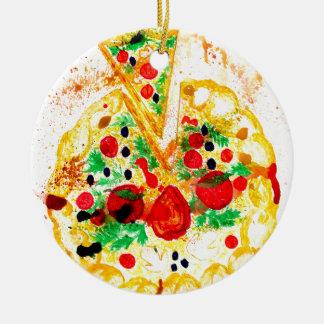 Ornamento De Cerâmica Pizza saboroso