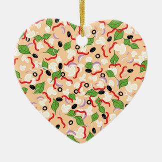 Ornamento De Cerâmica Pizza saboroso dos desenhos animados