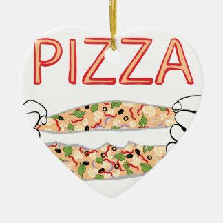 Ornamento De Cerâmica Pizza saboroso dos desenhos animados e Hands3