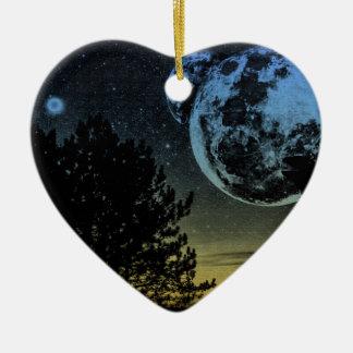 Ornamento De Cerâmica Planeta da fantasia
