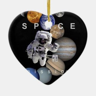 Ornamento De Cerâmica planetas do sistema solar da missão espacial do